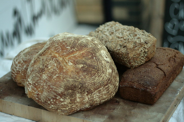 left to right: Hackney Wild, Seeded Spelt and Bordinsky bread