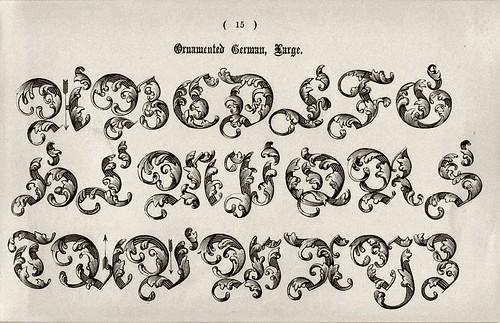 008-Alfabeto mayusculas ornamentado aleman-Examples of Modern Alphabets… 1913- Freeman Delamotte