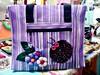 Sacola Ecológica - Joaninha (Fuxico de Chita) Tags: de flor artesanal fuxico feltro tecido aplicação sacola ecológica customização sacoladefeira aplicaçãodefeltro sacolaecológica