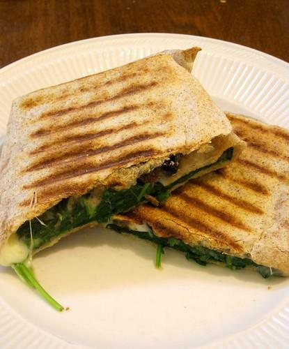 "Ratty Gourmet: Spinach Pie ""Wrap"" Quesadilla"