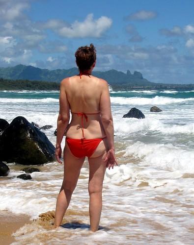 Mature wives in bikinis