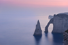 Etretat, Needle and the Gate of Aval (Dariusz Wieclawski) Tags: zeiss nikon dusk beautifullight down needle normandy etretat manneporte slowshutterspeed carlzeiss d700 theworldinflickr paysagesdenormandie gateofaval lecieldenormandie zeissflenses
