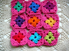 nine patch granny (Lindevrouwsweb) Tags: crochet grannysquare haken vierkantjes