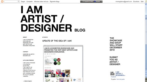 I AM ARTIST/DESIGNER