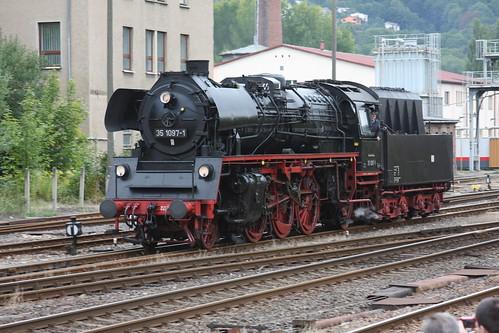 Sonderfahrt zu den Meiniger Dampfloktagen 2010