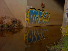 (Pastor Jim Jones) Tags: water graffiti tunnel btk lcm orby