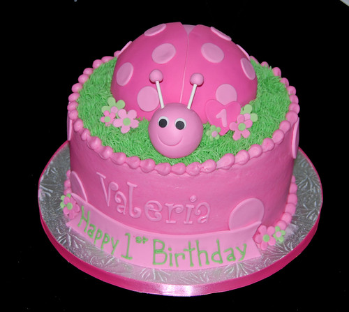 ... cakes, cupcakes & chocolates: Pink Ladybug Cake for a 1st Birthday