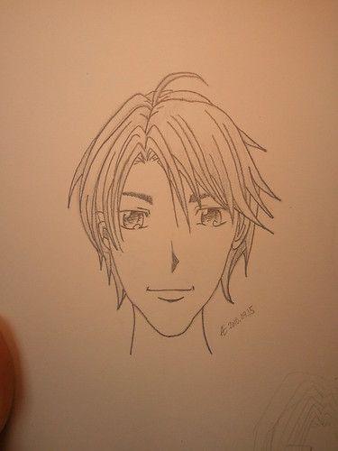 Manga Boy's Face (Front View)