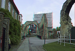 Canterbury Cathedral in anaglyph 3D stereo red cyan glasses to view - by 3dstereopics