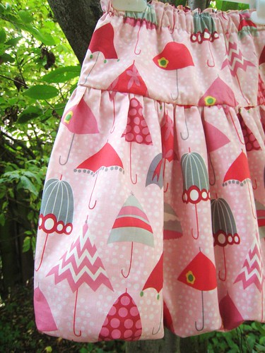 rainy days bubble skirt detail