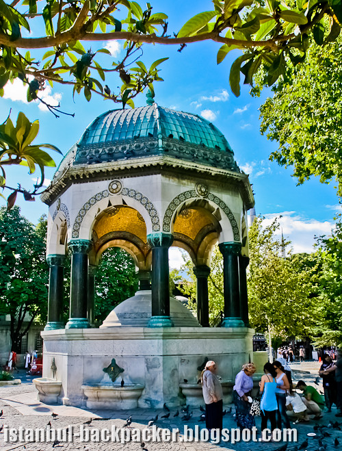 German Fountain at Istanbul Sultanahmet Square