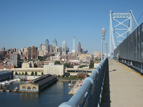 Philadelphia's Skyline from the Ben Franklin Bridge