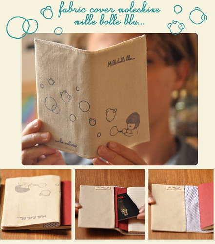 Notebook cover moleskine mille bolle blu