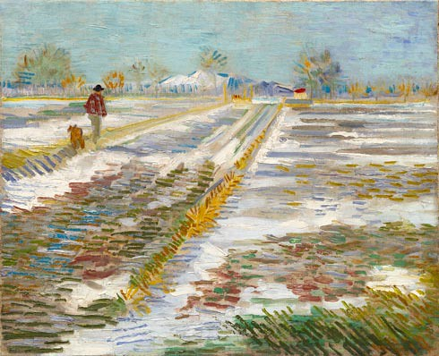 Landscape with Snow (Paysage enneigé), Late February 1888. Oil on  canvas, Vincent van Gogh