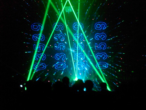 "Linkin Park Laser Show - ""The Catalyst"" 1"