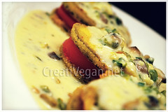 Eggplant with pepper bechamel soft cream