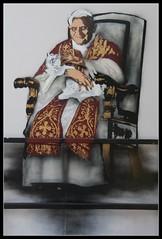 Nick Walker - 'Cardinal Sinister' (Romany WG) Tags: street pope london art college hall stencil cardinal sinister albert nick royal walker 2010 benedict
