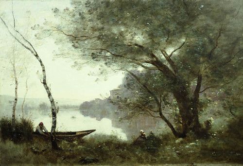 The Boatman of Mortefontaine, Jean-Baptiste-Camille Corot, c. 1865-1870