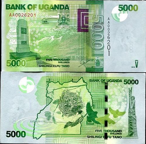 5000 Šilingov Uganda 2010