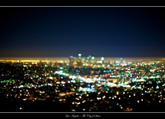 Los Angeles - The City of Stars (cloudbi) Tags: city skyline night lights la smog losangeles downtown bokeh downtownla griffithobservatory griffith downtownlosangeles laskyline nikkor50mmf12ai