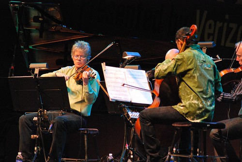 David Harrington of Kronos Quartet plays violin