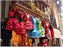 Toledo, Spain (CameliaTWU) Tags: building shop spain balcony toledo dresses flamencodresses