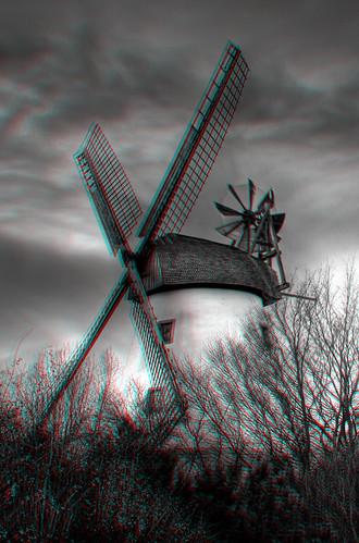 Minden - Meissener Windmühle Anaglyph 3d
