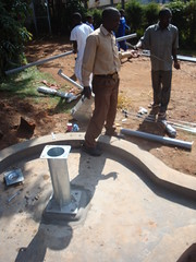 Matende Sec.school-pump attachment phase.