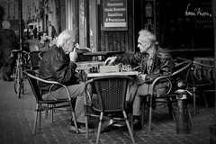 Partida de ajedrez en Bruselas