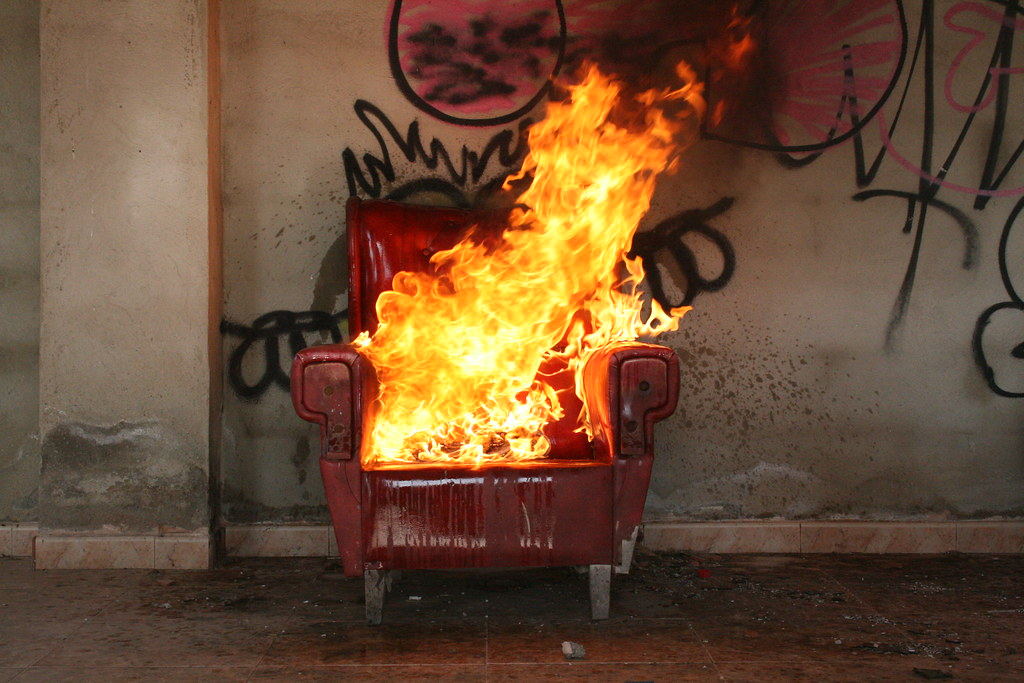 Red Chair Fire, Empty House (Will Hopper) Tags: Breakup
