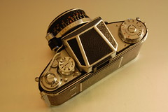 Exakta Varex IIa - Film advance lever at 270º