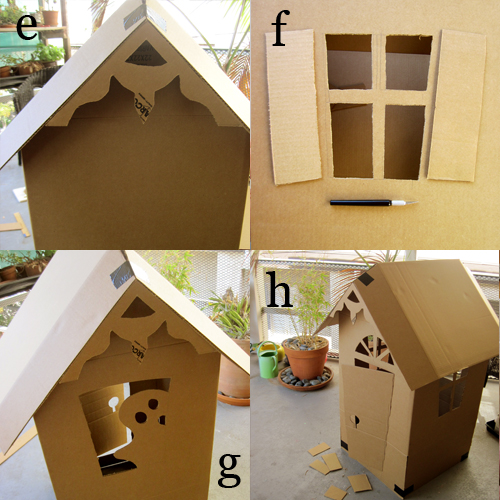 DIY Cardboard Haunted House (how-to 2) by Brenda Ponnay for Alphamom.com
