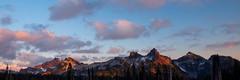 Tatoosh Range Sunset (Nick Kanta) Tags: sunset mountain clouds washington nationalpark paradise panoramic mtrainier mtrainiernationalpark d90 tatooshrange nikond90