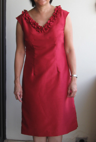 Carol red dress full length