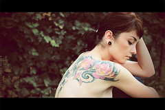 Girl with tattoo_II (basistka) Tags: portrait woman girl tattoo canon eos emotion 7d basistka