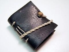 mini leather longstitch bound book