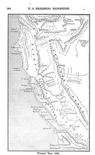 Wilkes Map California 1841