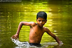 portrait of a child in the water of the canals of alappuzha-Kerala-india (anthony pappone photography) Tags: pictures b boy baby kids barn digital canon children lens photography photo foto child image bambini picture childrens enfants fotografia crianas photograher barna  phototravel      bambine  childrentravel losnios portraitsofchildren    barnamyndataka childrenbestphotos barnaljsmyndari barnamyndat