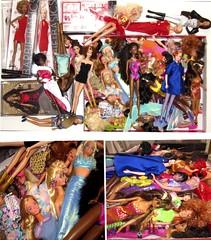A Barbie hell? (Blythemaniaco) Tags: fashion doll crowd stock hell moda barbie mattel picnik mueca infierno inventarion