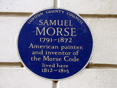 Photo of Samuel Morse blue plaque