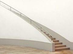 ascending in small steps (yushimoto_02 [christian]) Tags: berlin museum architecture cool stair minimal diagonal clean treppe staircase simplicity architektur simple minimalistic coolness minum gemaeldegalerie gemldegalerie