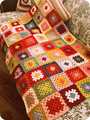 Grannies-gone-wild blanket in progress