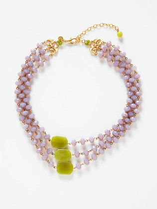 David Aubrey necklace lilac-green