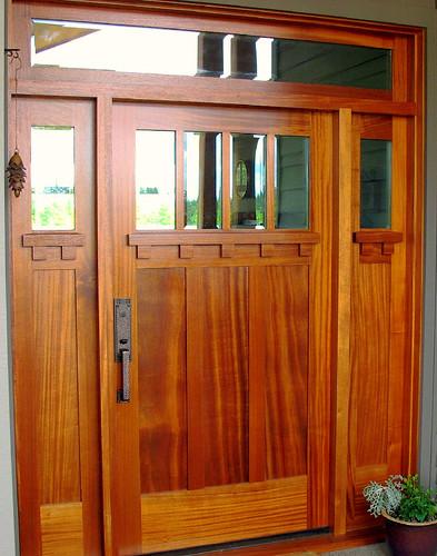 Custom Mahogany Craftsman Door Sidelights And Transom By. Exterior ...