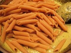 Adding pasta