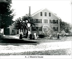 Moore House in Dublin New Hampshire (Keene and Cheshire County (NH) Historical Photos) Tags: family people house home dublinnh moorehouse dublinnewhampshire maryerobbe