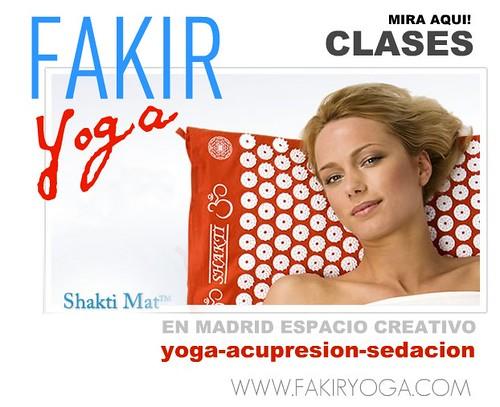 FAKIR YOGA: Clases sobre tapiz acupresion