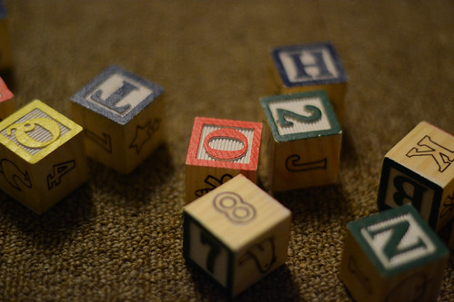 Children's Blocks - Nikon D3100 @ ISO 1600