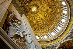 St-Peter Basilica Dome - Vatican city (Nino H) Tags: italy vatican rome roma church del san italia mosaic basilica vaticano cupola dome michelangelo stpierre italie stpeter citt pietro basilique mywinners gettyimagesitalyq1