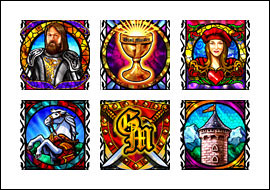 free Grail Maiden slot game symbols